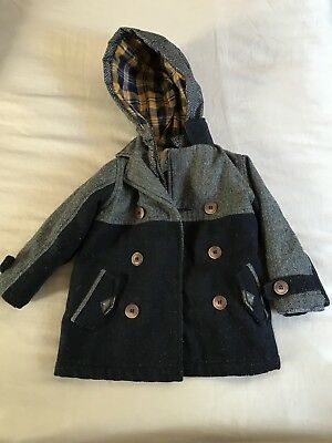 Boys Winter Duffle Coat With Hood From Mini Club (at Boots) Size 12 - 18 Months