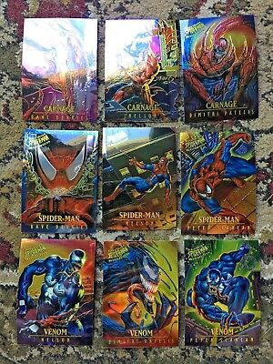 95 Fleer Ultra Spiderman Masterpieces Complete Insert Set 9 Cards 1995  5