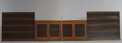 Antique Mahogany 3 Section Library Bookcase