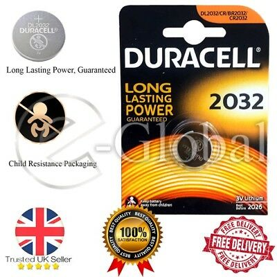 Duracell CR2032 3V Lithium Button Battery Coin Cell DL/CR 2032