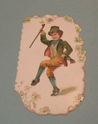 C.D. Kenny Coffee & Tea St. Patrick's Day Victorian Trade Card 40 Branch Stores