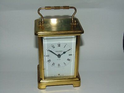 Vintage French Brass Cased Bayard 8 Day Carriage Clock Duverdrey & Bloquel
