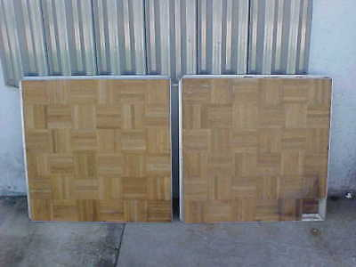 "Portable 36"" X 36"" Square Oak Wood Dance Floor 3 foot squared 3'x3' 14 each lot"