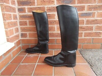 REGENT Black Leather Long Riding Boots * 8 uk * 42 eu