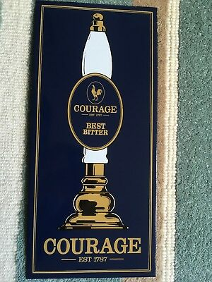 Pub Sign. Genuine  Courage Vitreous Enamel Brewers Plaque