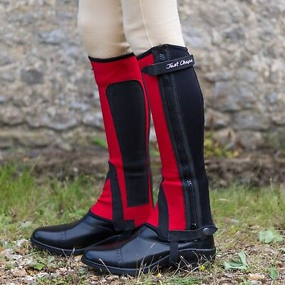 Just Chaps Child Equestrian Endurance Horse Riding Half Chaps - All Colours