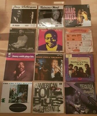 12 Jazz, Blues LP`s J.Witherspoon, Motown, Jimmy Smith, Isaak Hayes, Booker T.