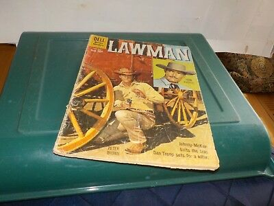 Lawman Dell Western Adventure  Comic Vintage Covers August 1960  No 5 10 Cents