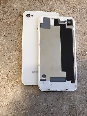 NEW Glass Replacement for iPhone 4/4G White Battery Back Rear Cover Door A1332