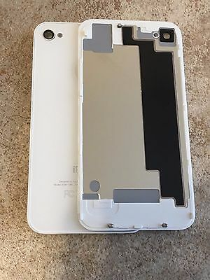 NEW Glass Replacement for iPhone 4S White Battery Back Rear Cover Door A1387