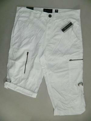 "INC Mens White Regular Fit Longer Length Shorts NWT Size 30 X 17"" MSRP $50 MS637"