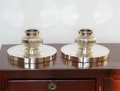 DANISH Art Deco Evald Nielsen Sterling Silver Candle Holders, 1936. Very Nice