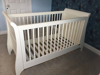 Mama & Papas Orchard Sleigh Cot Bed For Baby Through To Toddler