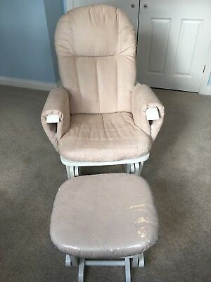 Nursery glider rocking nursing chair and foot stool- Brand- Tutti Bambini