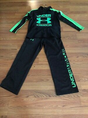 Under Armour Fleece Line Pants And Light Hoodie Pull Over YLG