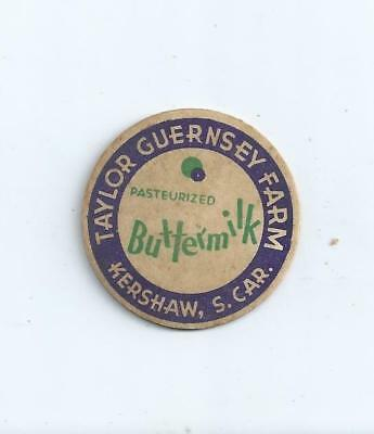 """Taylor Guernsey Farm""  Kershaw, S.C.  milk bottle cap."