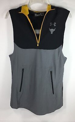 2baf1916ad40bd Under Armour Project Rock Vanish Sleeveless Training Hoodie Vest Mens Size