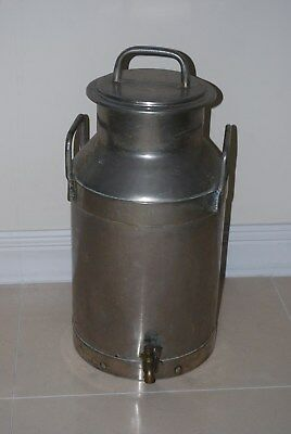 Rare Unusual Old Milk Churn With Tap Dispenser Part And Lid, Vinage, Garden L@@k