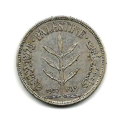 "Palestine 1927 Silver One Hundred Mil ""scarce"" ""xf""  # A1081  Free Usa Ship"