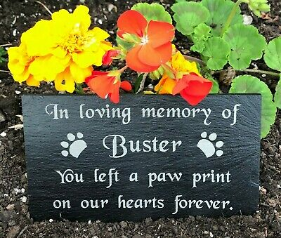 Personalised Engraved Pet Memorial Slate Headstone Grave Marker Plaque for a Dog