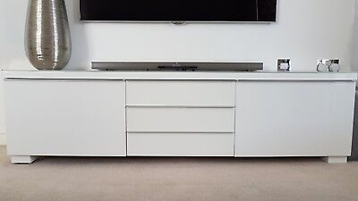 ikea besta burs tv cabinet and wall mounted dvd unit red gloss
