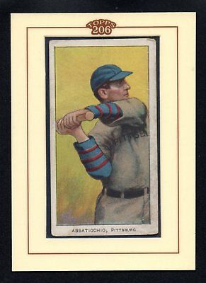 ED ABBATICCHIO blue sleeves PIRATES 1909-1911 T206 VERY GOOD        T206 HOLDER