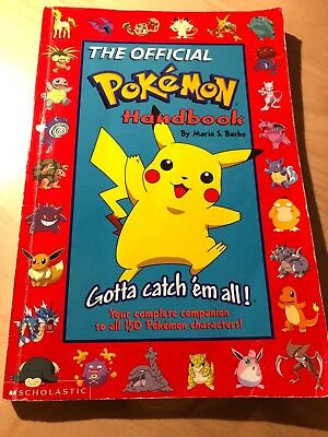 The Official Pokemon Handbook, Maria S. Barbo, 1999, used
