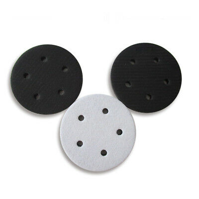 5'' 125mm x 12mm Soft Sponge Interface Pad 5 Hole Hook and Loop Sanding Backing