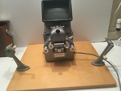 Vintage Muray 8mm film editor viewer with base board and winders
