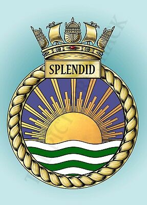 HMS BULWARK CREST ON A METAL SIGN 5 x 7 INCHES FITS STANDARD PHOTO FRAME.