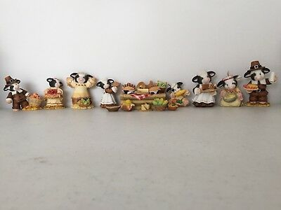 Mary's Moo Moos - Thanksgiving 1998 Complete Lot - With 10 Mini Accessories