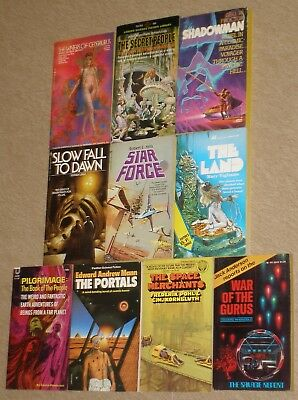 Lot of 10~VINTAGE SCIENCE FICTION PAPERBACKS~1960's to Early 1980's EXCOND!