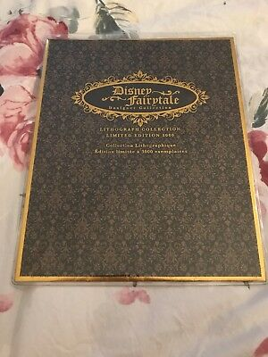 Limited Edition Disney Fairytale Designer Collection Lithographs Princesses