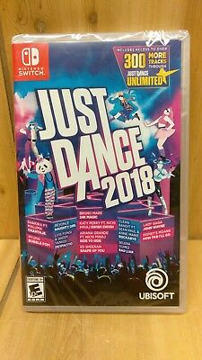 Just Dance 2018 (Nintendo Switch, 2017) BRAND NEW FACTORY SEALED