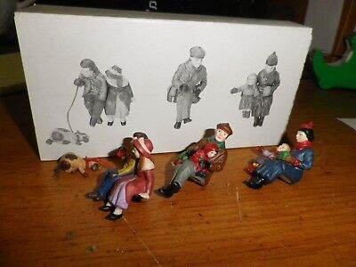 Dept 56 Dickens Village Come Into The Inn 55603 Set 3 Figures W/bx Free Ship 122