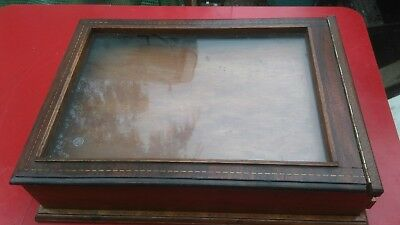 Inlaid mahogany  display cases used x 2. From reclaimed materials