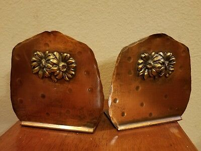 Vintage DRUMGOLD 305 Hammered Copper Art & Crafts Bookends