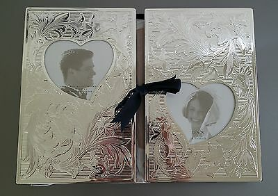 Lenox Wedding Promises Collection Silver Plate Double Album Giftware