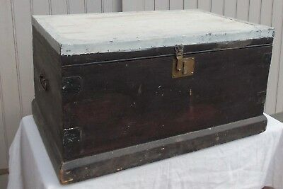 Vintage Pine Travel/ Blanket Chest