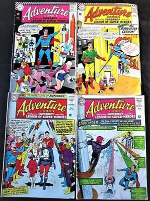 DC Comics Lot- Adventure Comics- Superboy, Legion of Super-Heroes