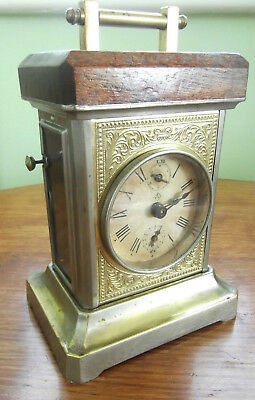 antique German JCF musical alarm carriage clock