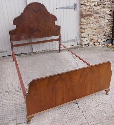 "Vintage Wooden ""French Style"" Ornate Double Bed Frame"