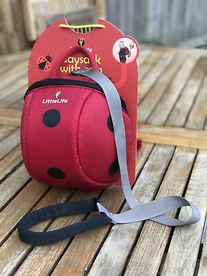 LittleLife Ladybug Toddler Daysack 2l Capacity Top Grab Handle And Reins