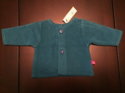 Zutano Baby Sweater - Blue Fleece, 0 - 3 months