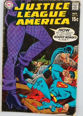 Justice League of America #75 Silver Age 1969 VG