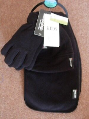 M&s Kids - Boys 3-6 Yrs - Hat, Scarf & Gloves Set - Thinsulate - New - Rrp £14