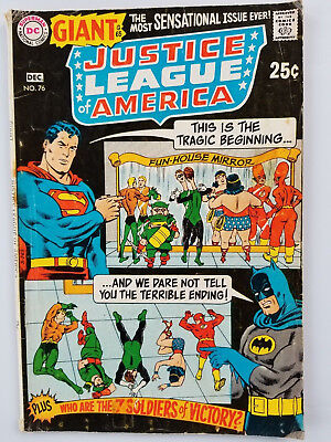 Justice League of America #76 Silver Age 1969 VG+