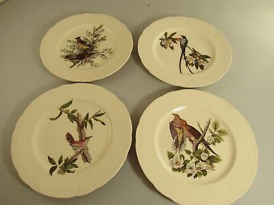 "Vintage Lot Of 4 Alfred Meakin Birds of America 9"" Plates Not Embossed"