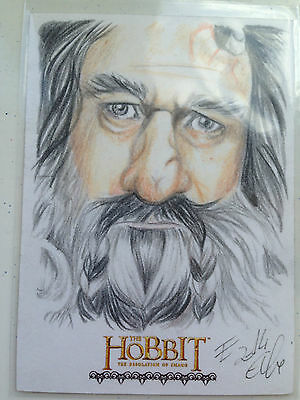 The Hobbit Desolation of Smaug Sketch Card by Elfie Lebouleux