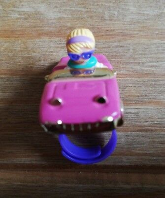 Vintage Polly Pocket Racey Roadster Ring 1994. 100% Complete. Ultra Rare